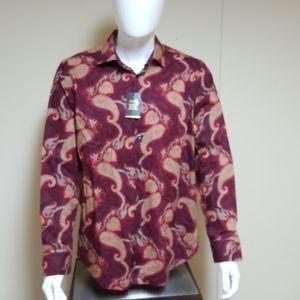 Tasso Elba mens Paisley-Print dobby shirt